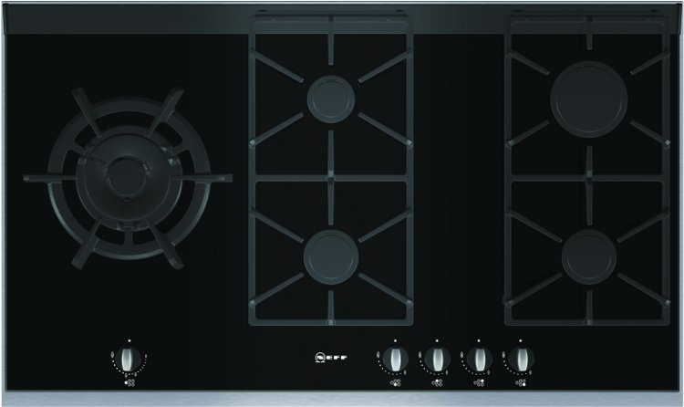 buy neff damaged item t69s86n0 5 burner gas hob t69s86n0. Black Bedroom Furniture Sets. Home Design Ideas