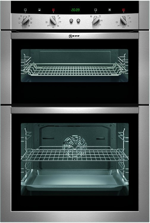 Buy neff series 2 u15m62n0gb double built in electric oven u15m62n0gb stainless steel - Neff electric ...