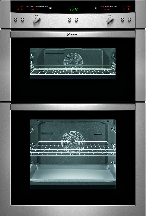 Buy neff series 5 u16e74n3gb double built in electric oven u16e74n3gb stainless steel - Neff electric ...