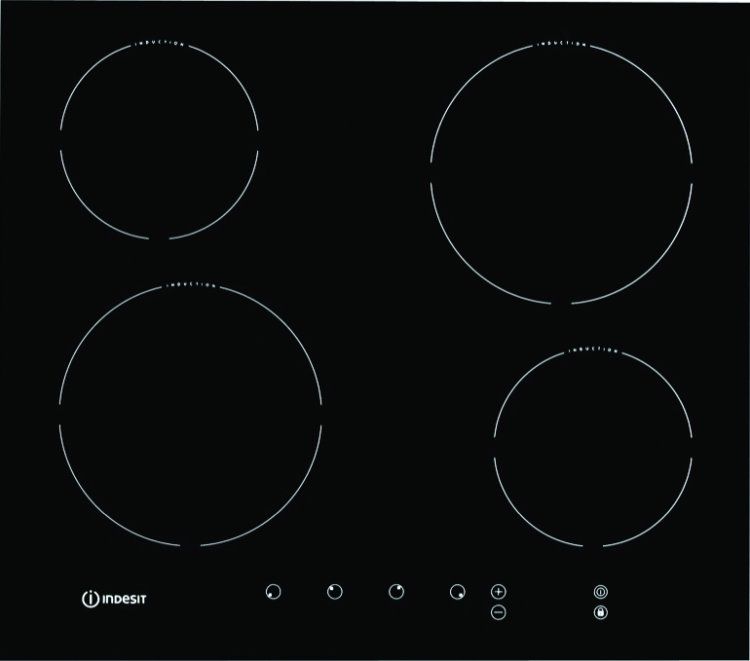 indesit prime via640c induction hob. Black Bedroom Furniture Sets. Home Design Ideas