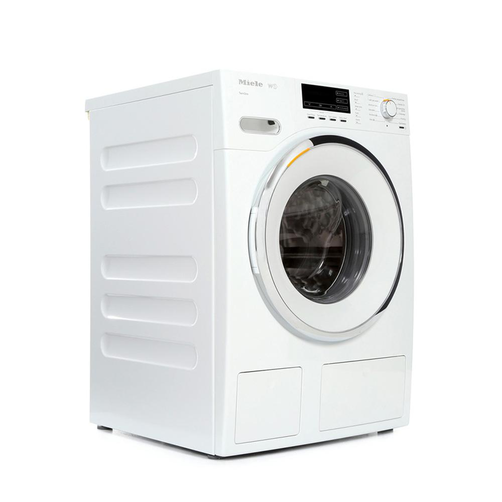 buy miele w1 whiteedition wmg120 washing machine wmg120 white with white and chrome door. Black Bedroom Furniture Sets. Home Design Ideas