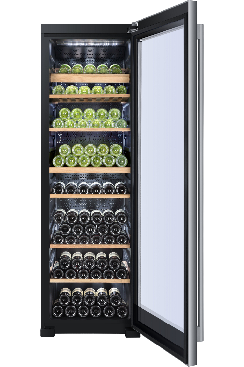 haier ws151gdbi wine cooler fingerprint free stainless. Black Bedroom Furniture Sets. Home Design Ideas