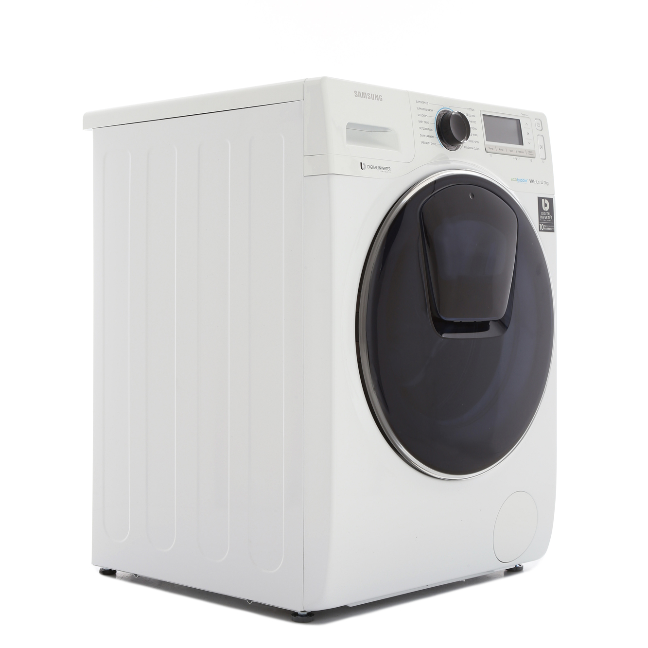 buy samsung addwash ww12k8412ow washing machine ww12k8412ow white with crystal blue door. Black Bedroom Furniture Sets. Home Design Ideas