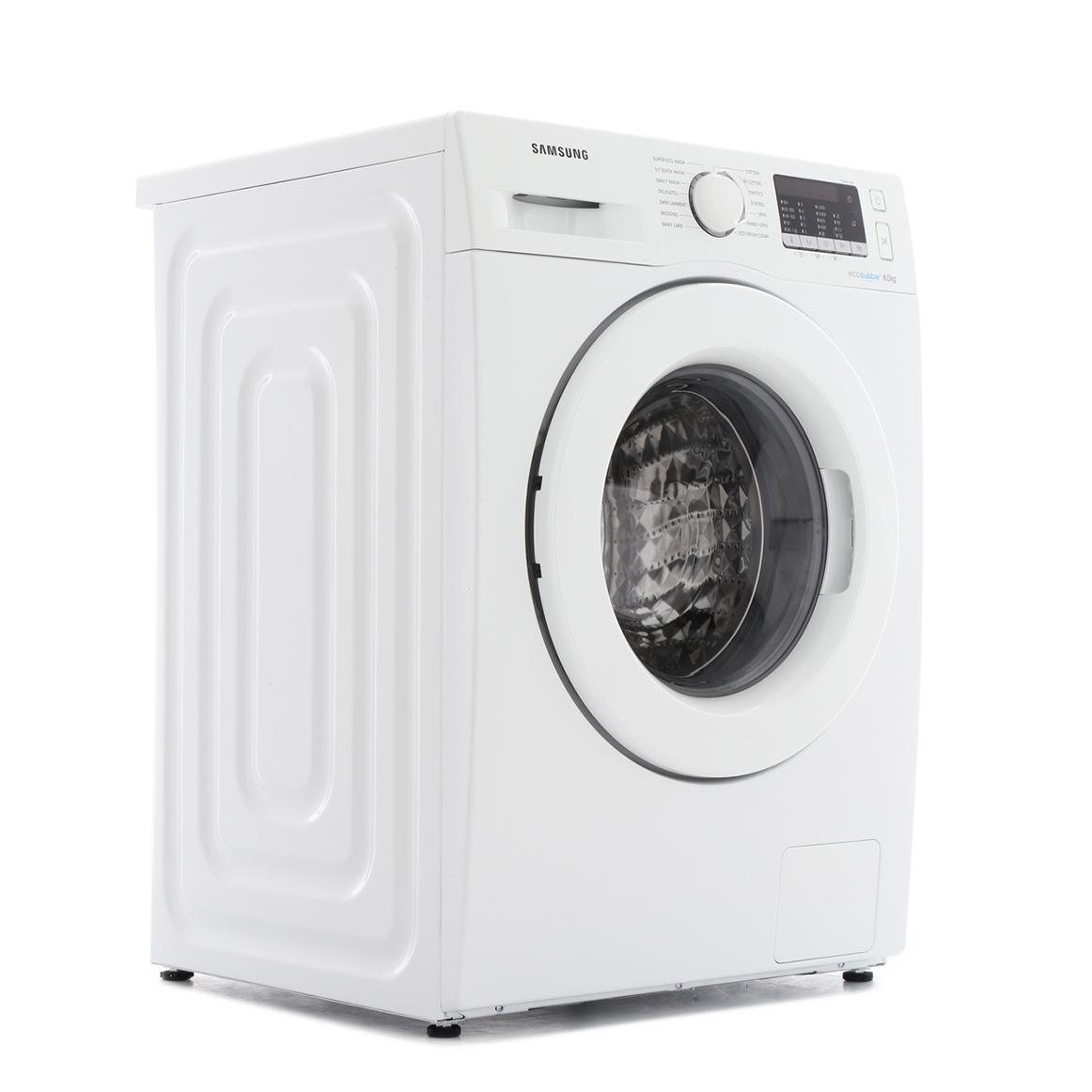 Samsung 8kg WW80J5355MW/EU Washing Machine With Ecobubble Technology