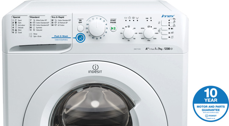 Buy Indesit Innex Xwc71252w Washing Machine Xwc71252w White Marks Electrical
