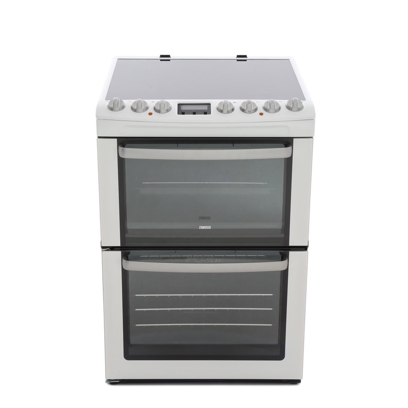 Zanussi ZCV66AEWC Ceramic Electric Cooker with Double Oven