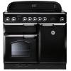 Rangemaster CLAS100ECBL/C Classic Gloss Black with Chrome Trim 100cm Electric Range Cooker