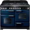 Rangemaster CDL110DFFRB/C Classic Deluxe Regal Blue with Chrome Trim 110cm Dual Fuel Range Cooker