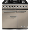 Falcon F900DXDFFN/NM 900 Deluxe Fawn with Nickel Trim 90cm Dual Fuel Range Cooker