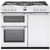 Belling DB490DFT White 90cm Dual Fuel Range Cooker