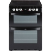 New World NW 601EDO Black Ceramic Electric Cooker with Double Oven