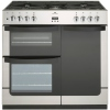 New World Vision 900DF Stainless Steel 90cm Dual Fuel Range Cooker