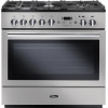 Rangemaster Professional Plus FX 90 DF FSD Silver 90cm Dual Fuel Range Cooker