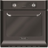 Baumatic BOR600BL Black Retro Style Single Built In Electric Oven