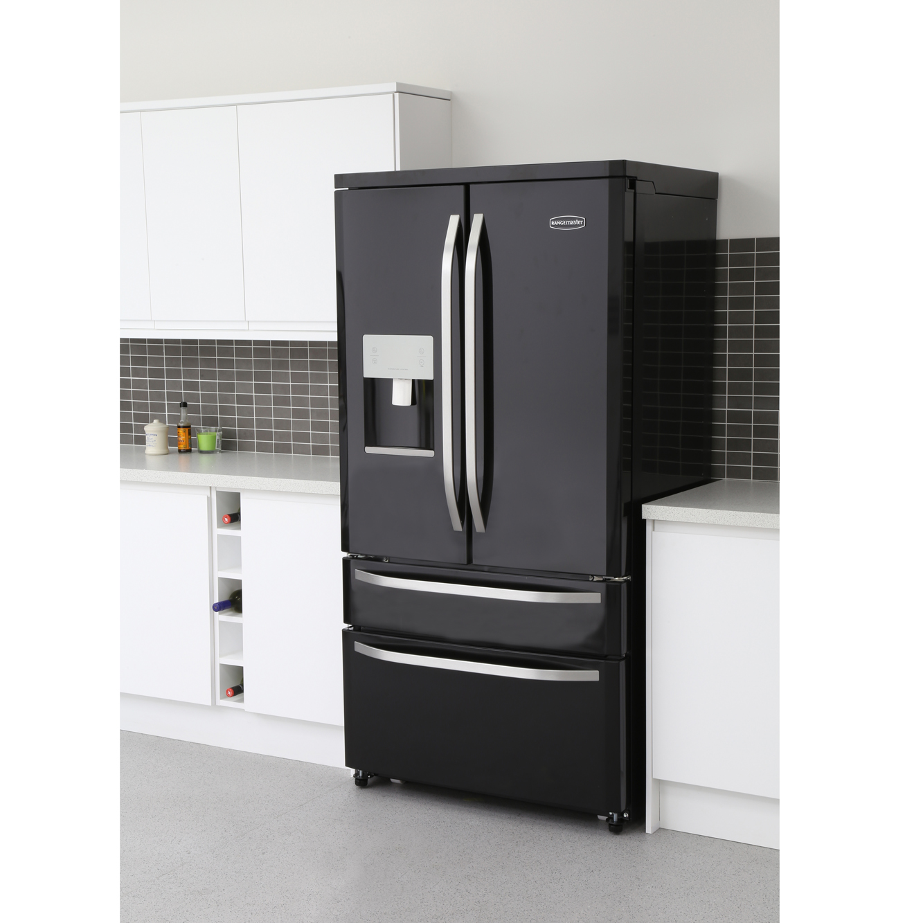 buy rangemaster rdxd15bl c dxd15 black american fridge. Black Bedroom Furniture Sets. Home Design Ideas