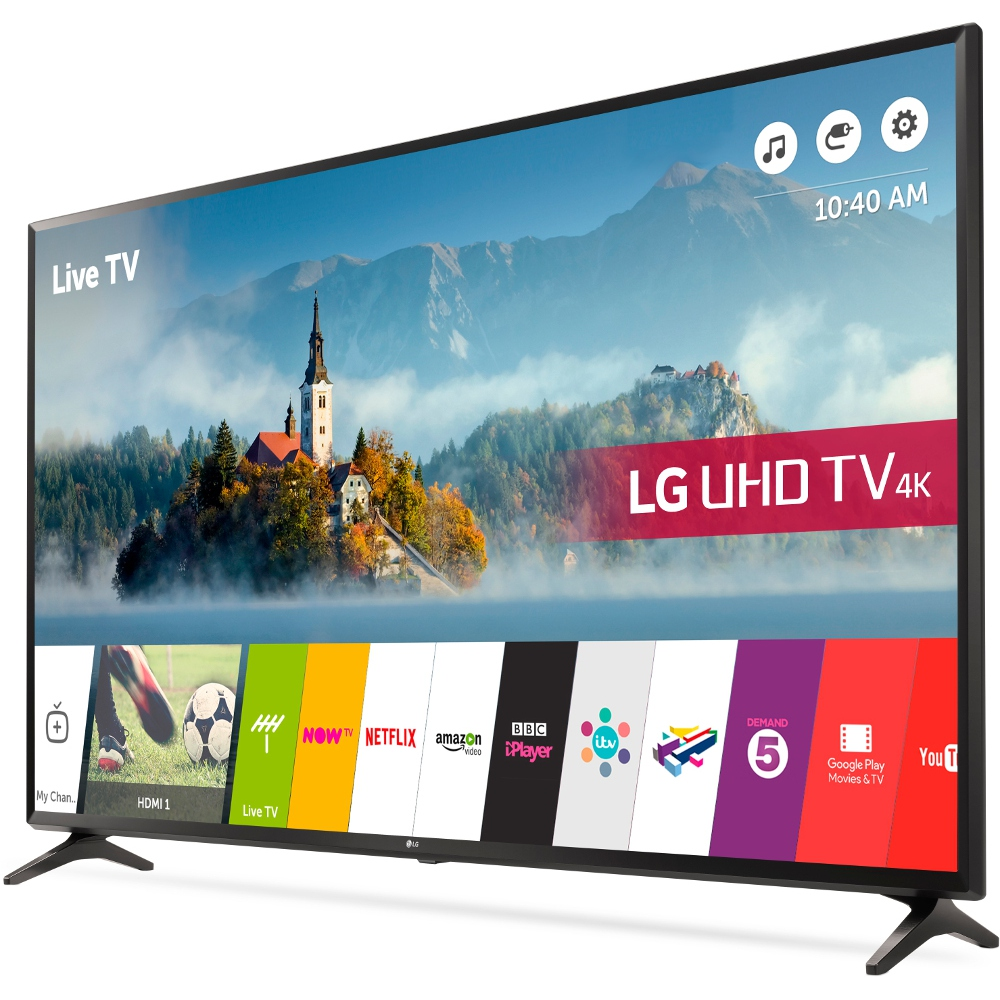 buy lg 43uj630v 43 4k ultra hd smart television black marks electrical. Black Bedroom Furniture Sets. Home Design Ideas