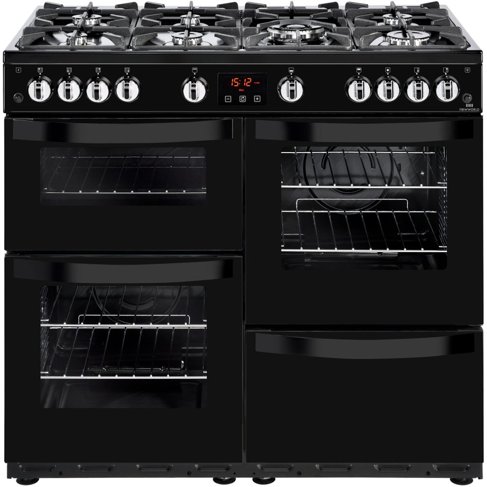 New World Kitchen Appliances Buy New World Vision 100g Black 100cm Gas Range Cooker 444444214