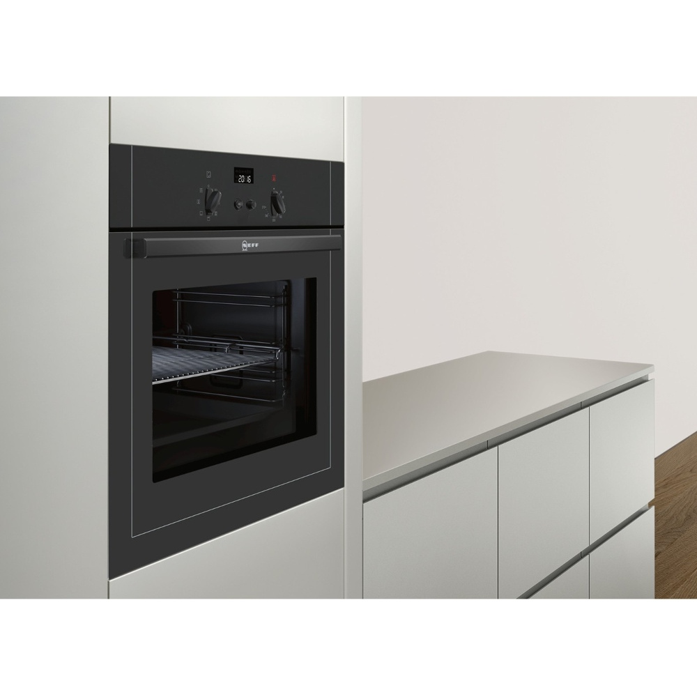 Buy neff b14m42s5gb single built in electric oven black marks electrical - Neff electric ...