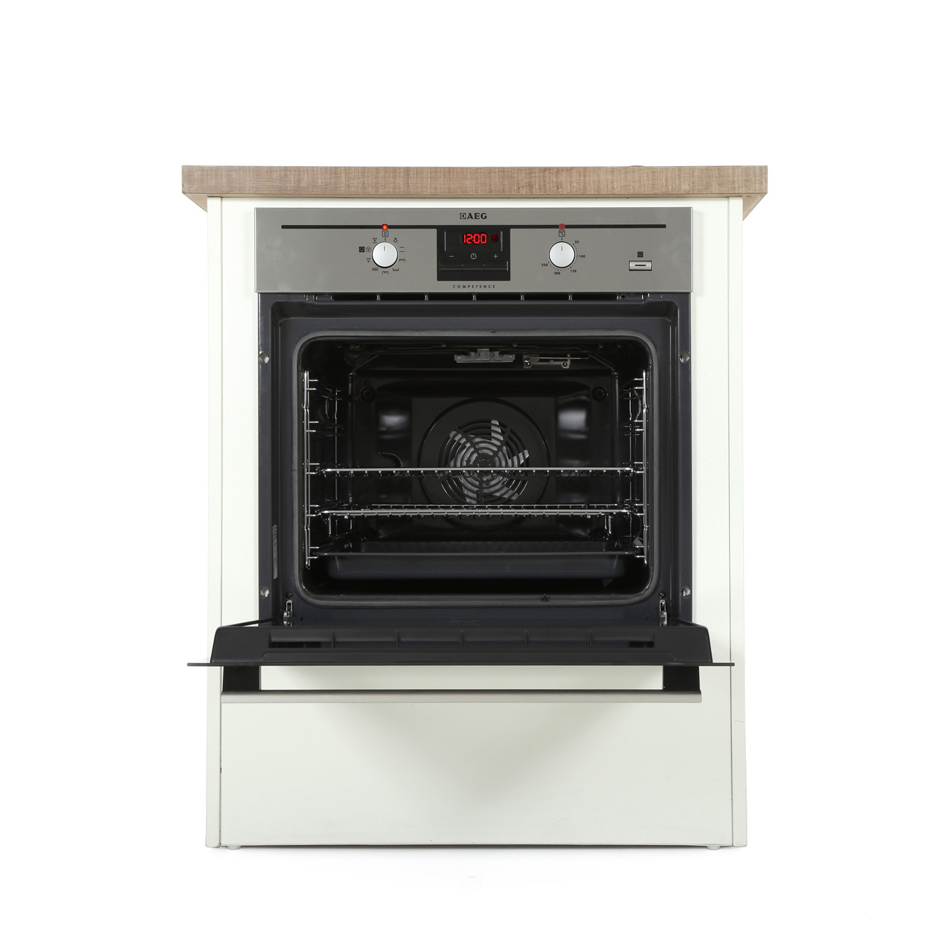 Buy aeg be330362km single built in electric oven for Aeg ofen