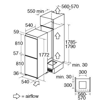 hotpoint integrated fridge freezer door fitting instructions