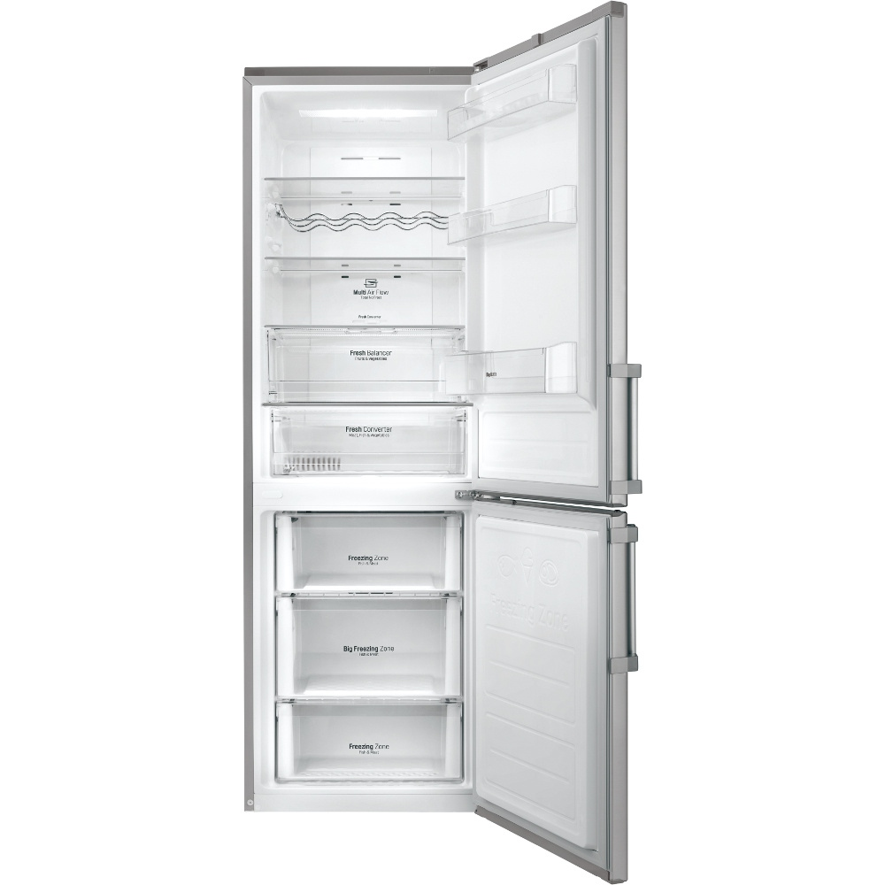 Buy Lg Gbb59pzfzb Fridge Freezer Shiny Stainless Steel