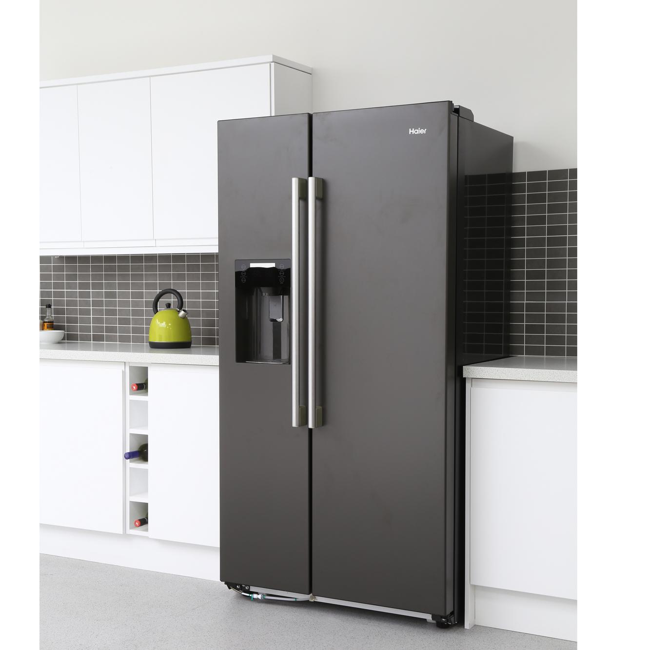 buy haier hrf 628in6 american fridge freezer anthracite marks electrical. Black Bedroom Furniture Sets. Home Design Ideas