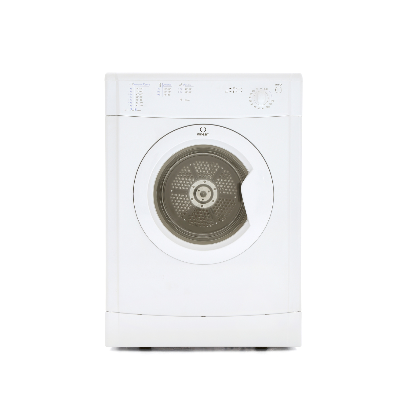 buy indesit idv75 vented dryer white marks electrical. Black Bedroom Furniture Sets. Home Design Ideas
