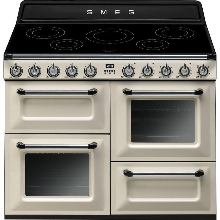 buy smeg victoria tr4110ip 110cm electric range cooker tr4110ip cream marks electrical. Black Bedroom Furniture Sets. Home Design Ideas