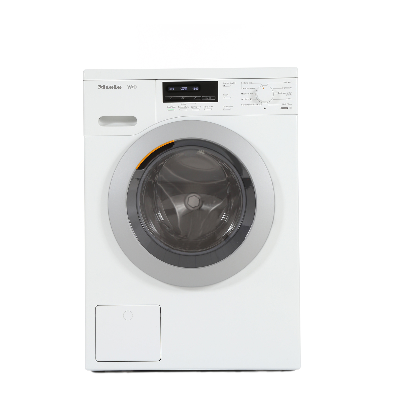 buy miele w1 chromeedition wkb120 washing machine wkb120 lotus white with silver plastic. Black Bedroom Furniture Sets. Home Design Ideas