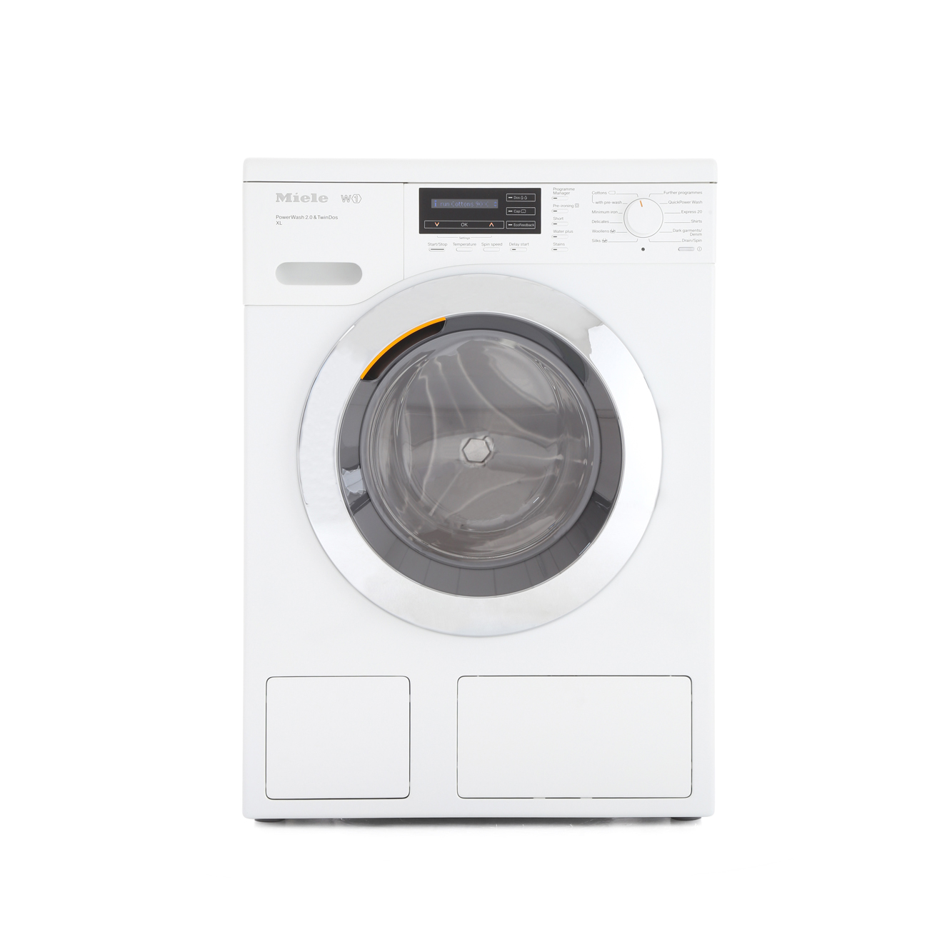 buy miele w1 chromeedition wkh122wps white washing machine wkh122wpswhite lotus white. Black Bedroom Furniture Sets. Home Design Ideas