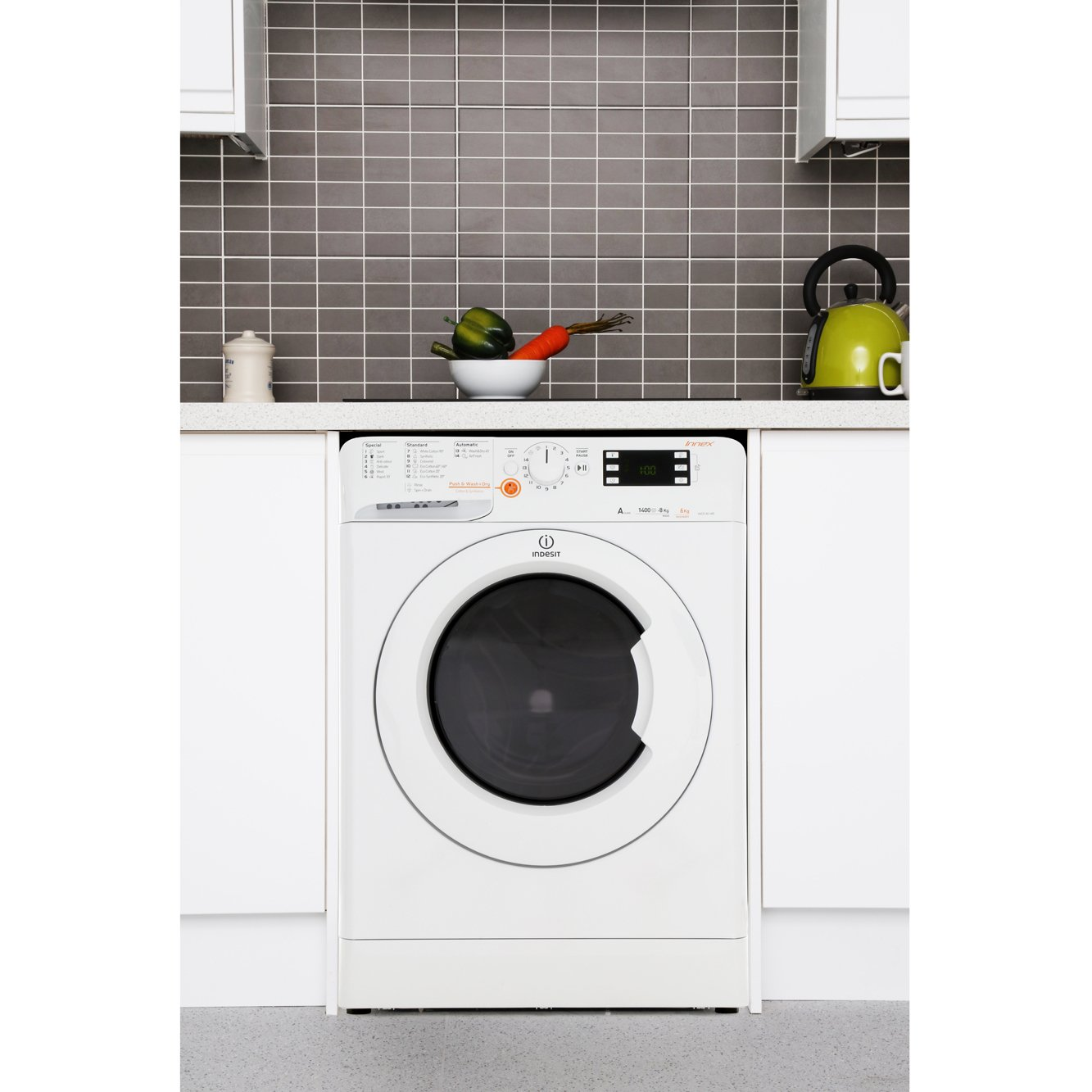 buy indesit xwde861480xw washer dryer - white | marks electrical - Cucina A Gas Indesit