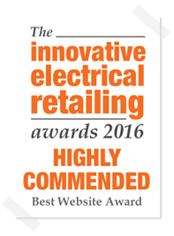 Innovative Electrical Retailing Awards - Best Website Award - Highly Commended