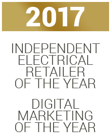 2017 - Independent Electrical Retailer of the Year, Digital Marketing of the Year