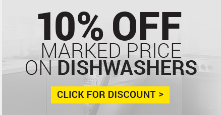 10% off Marked Price on Zanussi Dishwashers - Offer ends this Thursday!