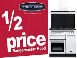 Get a half price Rangemaster hood with any Rangemaster range cooker.