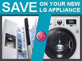 Save on a wide range of LG appliances with Marks Electrical.