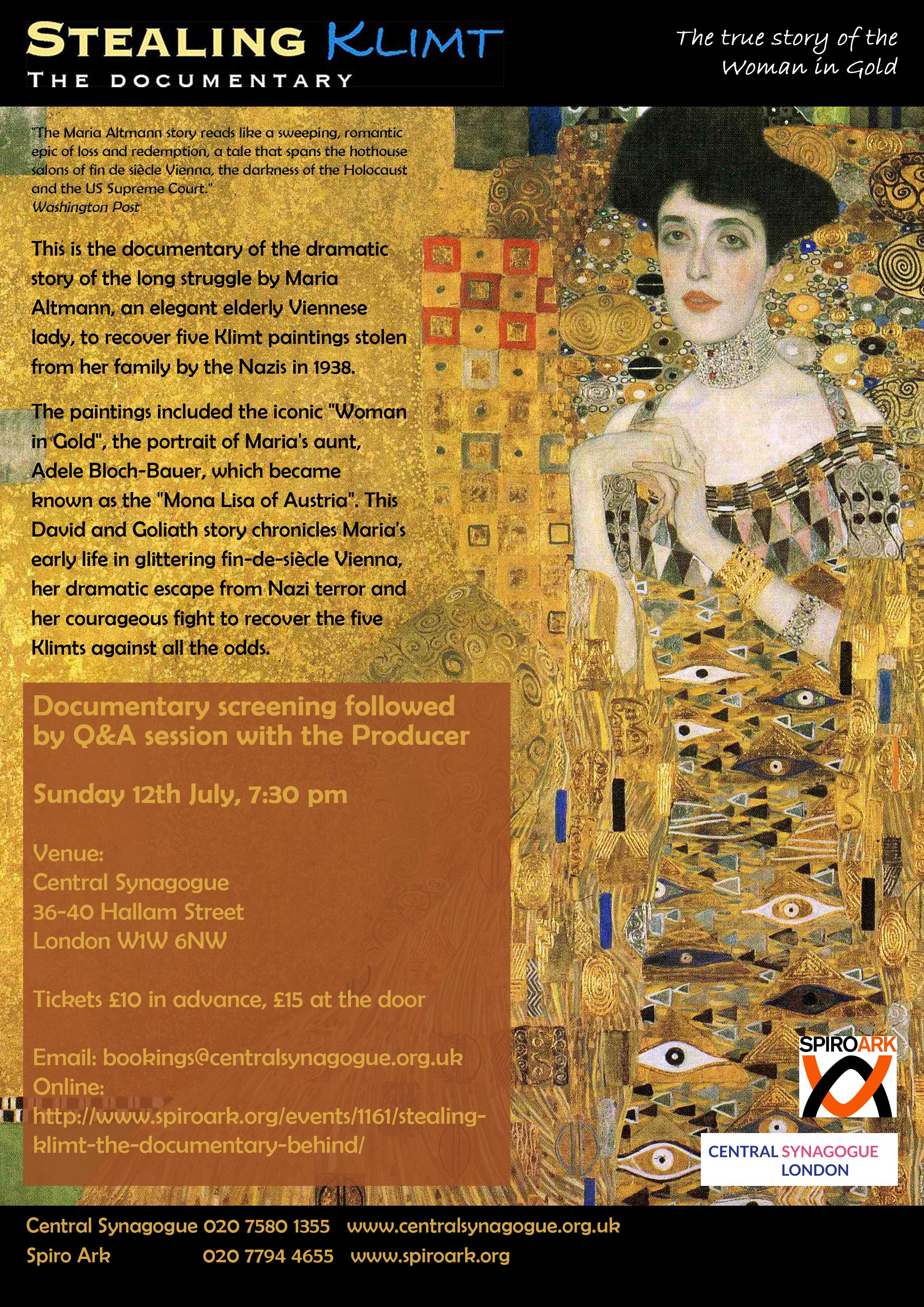 Stealing Klimt documentary evening copy