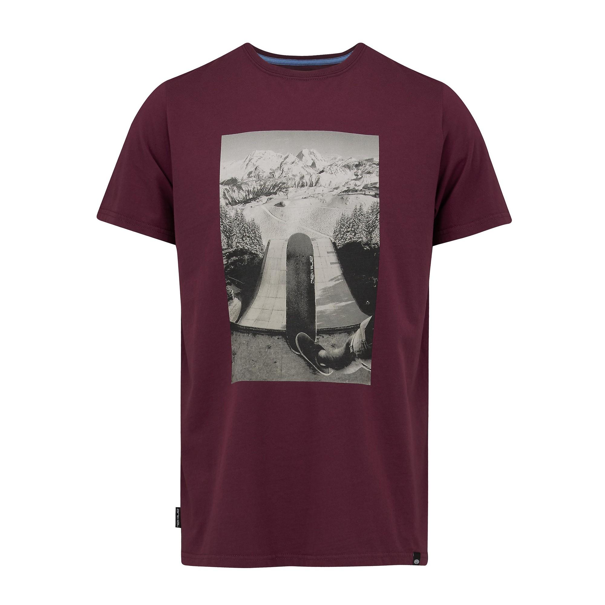 Animal-Camiseta-impresa-Escena-Skateboarding-hombre-caballero