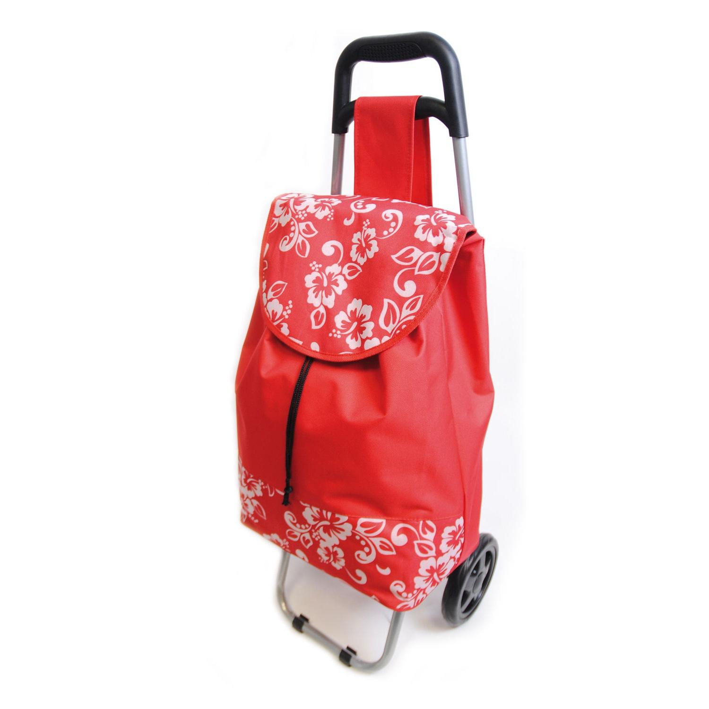 hawaiian floral shopping trolley bag with wheels ebay. Black Bedroom Furniture Sets. Home Design Ideas