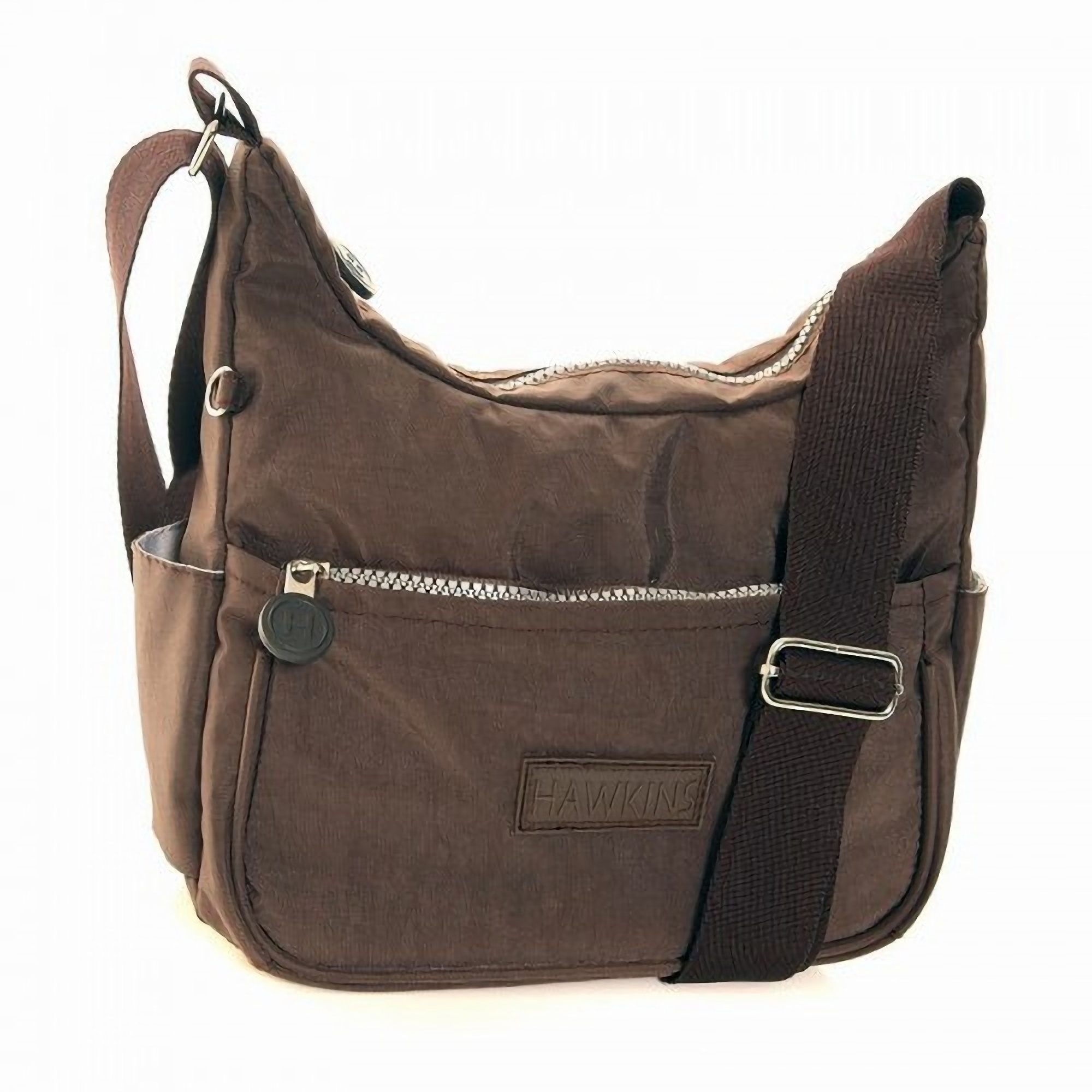 Womens /Ladies Crushed Nylon Casual Cross Body Shoulder ...
