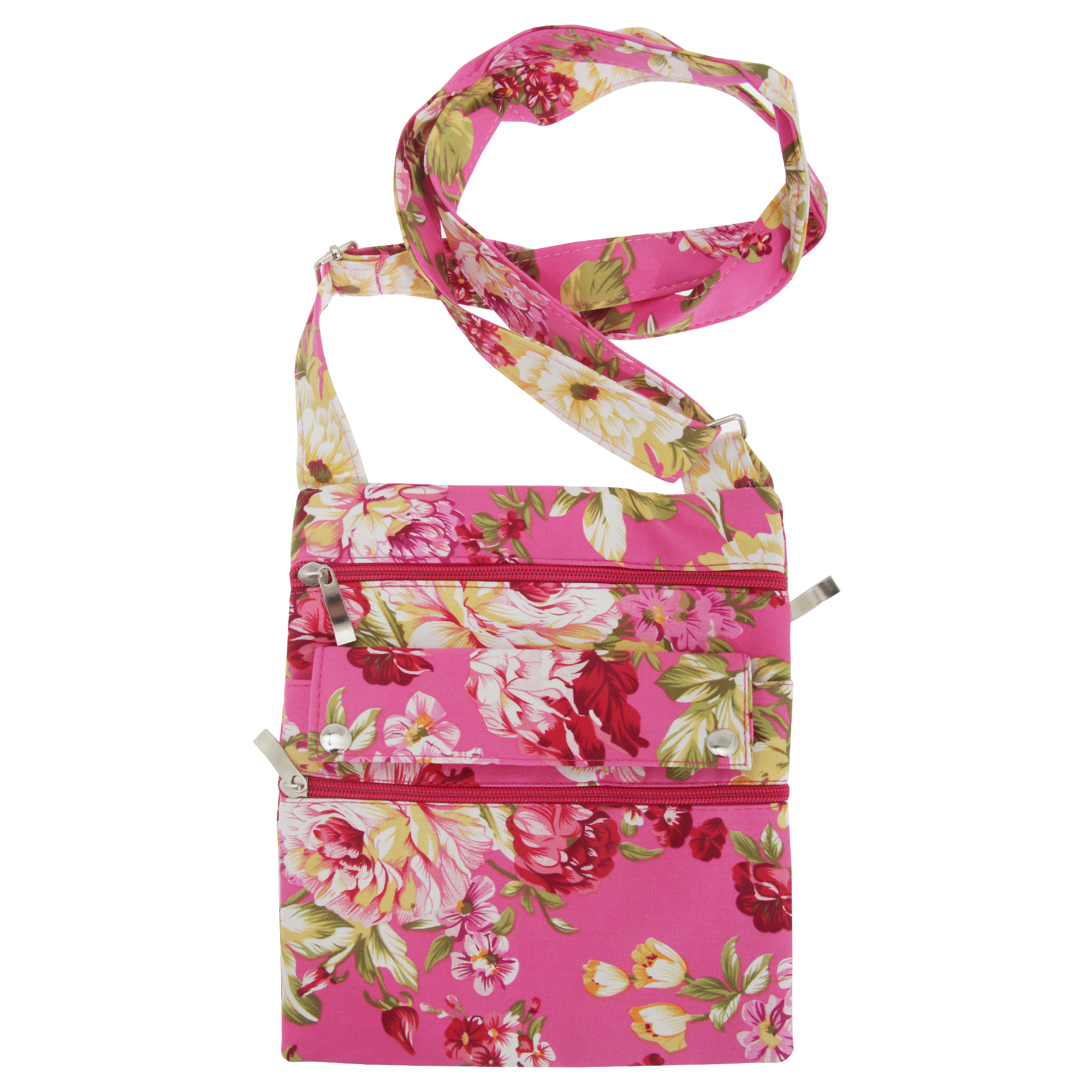 Womens/Ladies Floral Patterned Cross Body Shoulder Strap Handbag/Bag | EBay