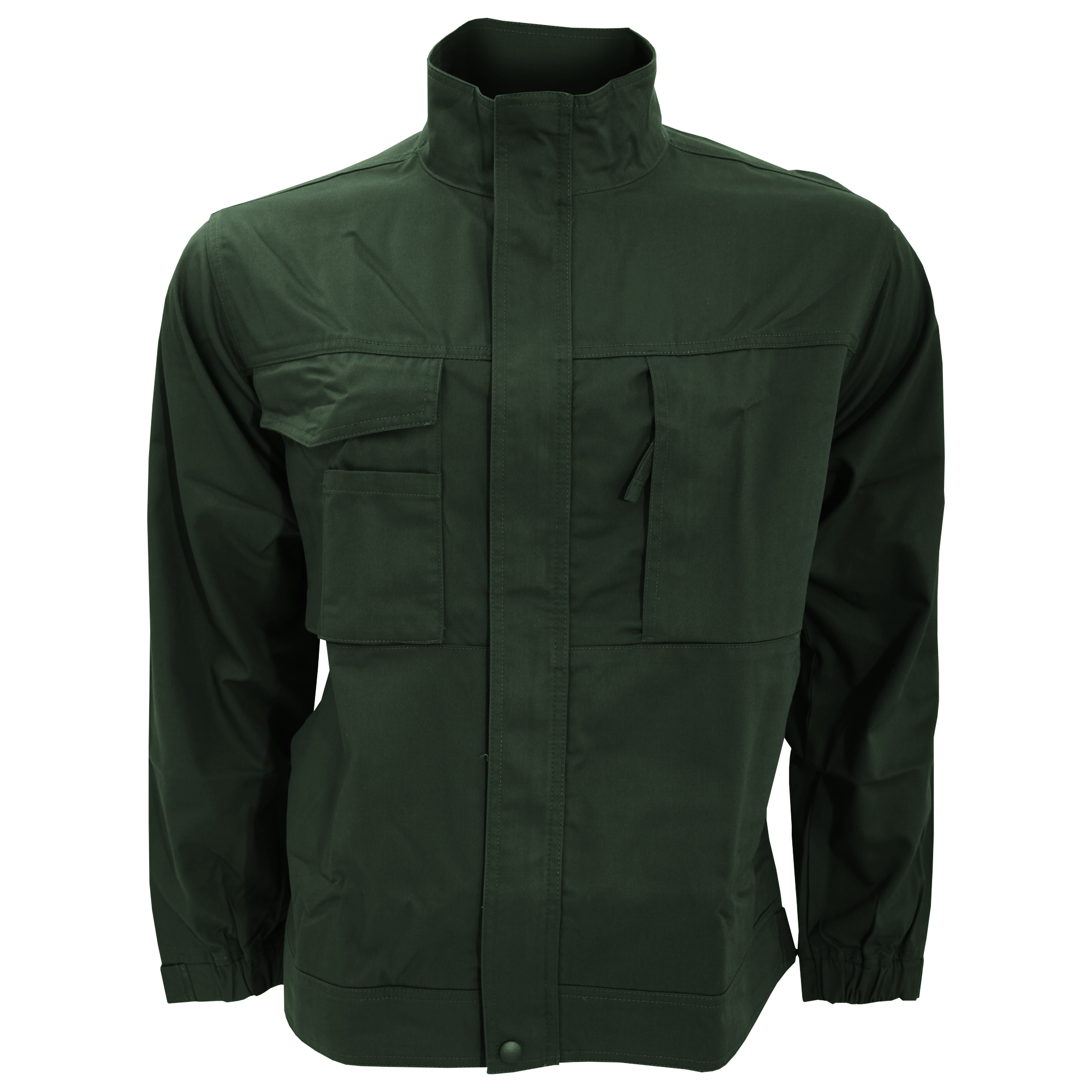 Russell workwear mens plain casual zip up twill work for Bear river workwear shirts