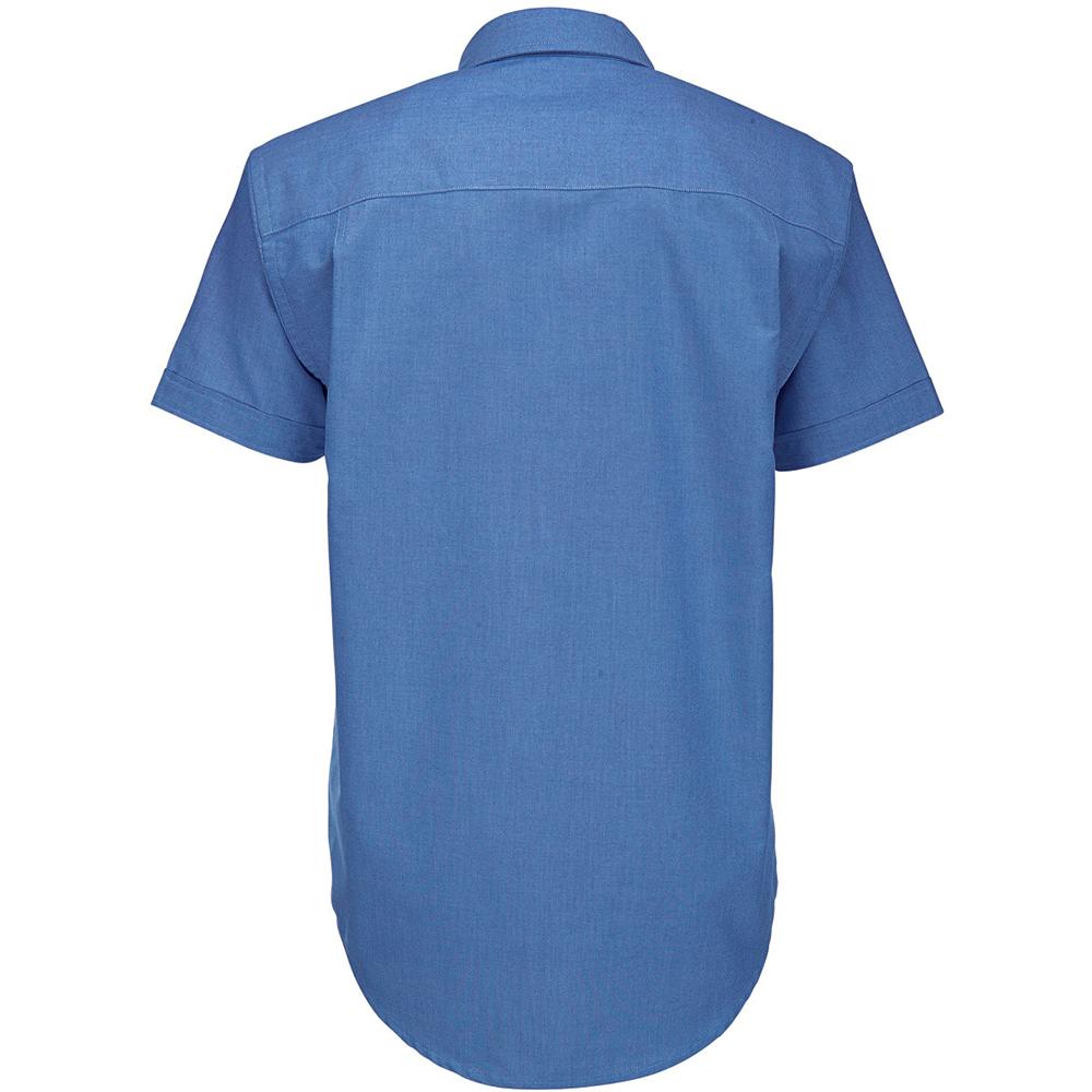 B/&C Mens Oxford Short Sleeve Shirt Mens Shirts BC106