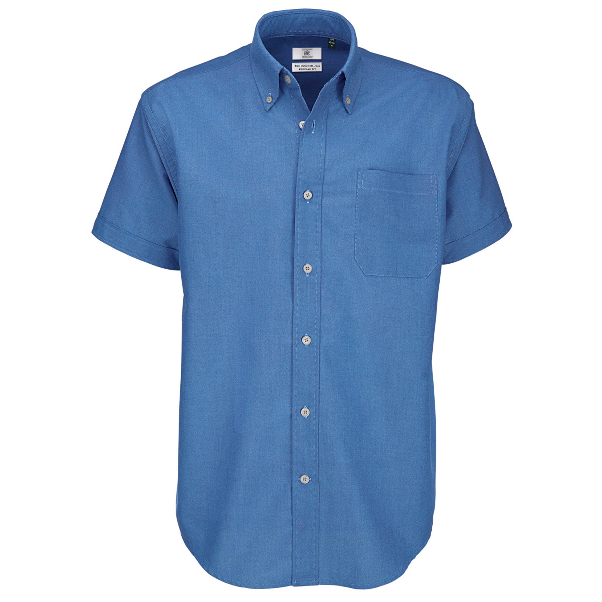 B c mens oxford short sleeve shirt mens shirts ebay for Mens short sleeve oxford shirt
