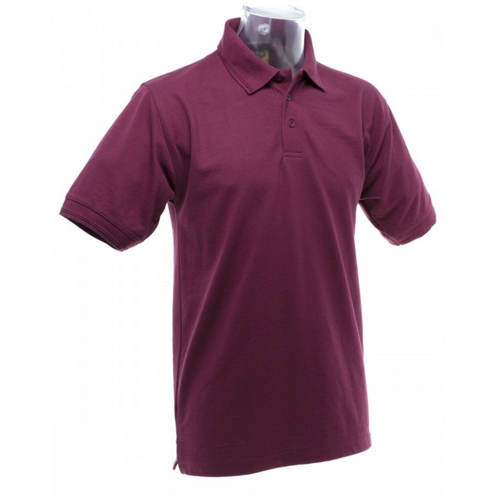 BC1195 UCC 50//50 Mens Heavyweight Plain Pique Short Sleeve Polo Shirt