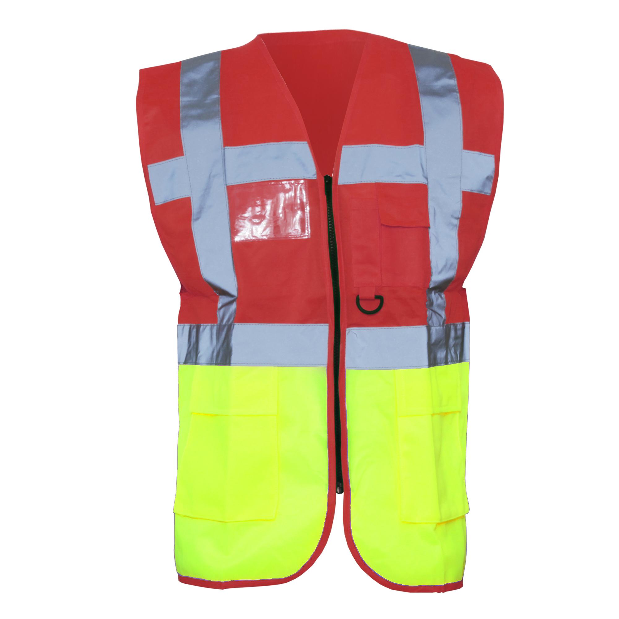 Yoko motorcycle gloves - Yoko Hi Vis Premium Executive Manager Waistcoat Jacket