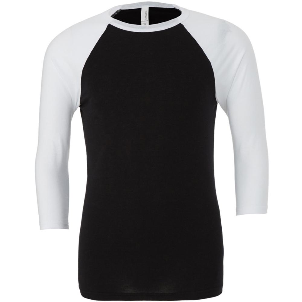 Canvas Mens 3 4 Sleeve Baseball T Shirt Ebay