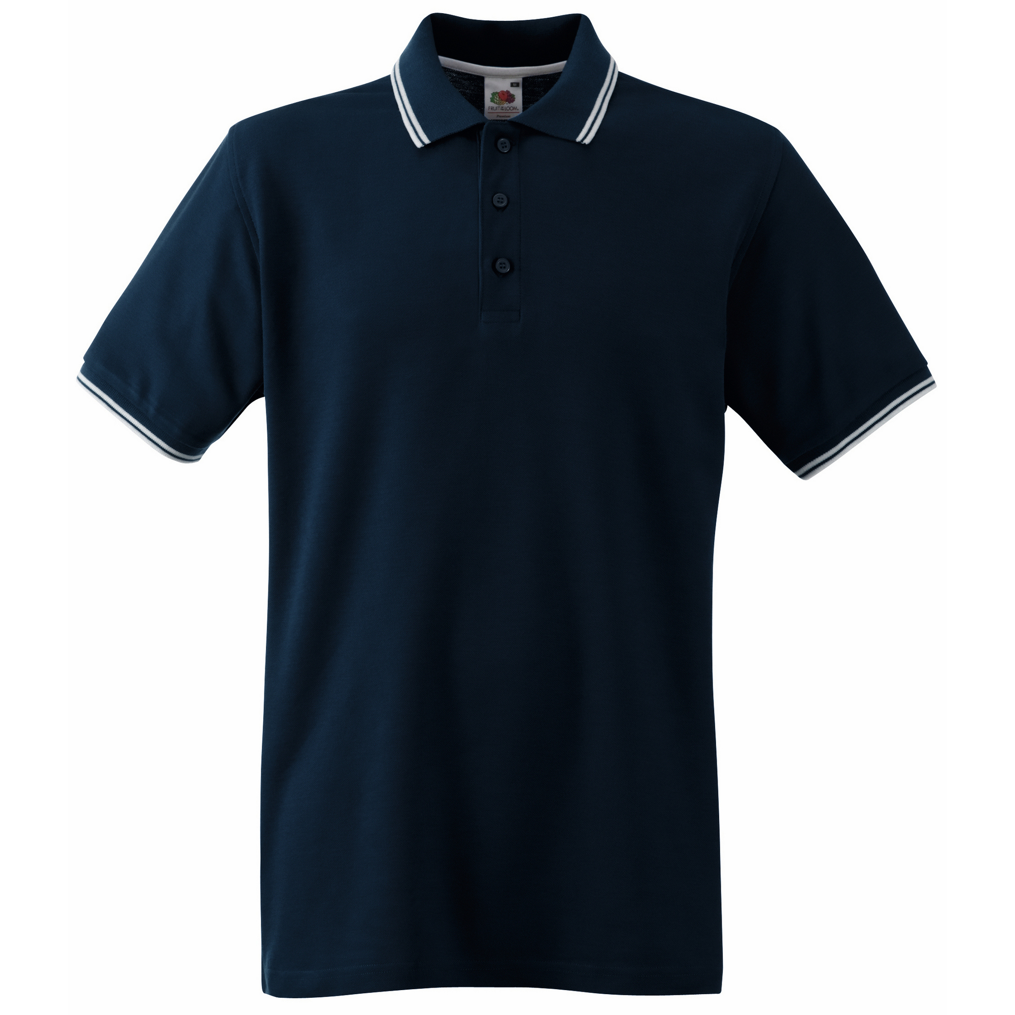 fruit of the loom mens tipped short sleeve polo shirt ebay. Black Bedroom Furniture Sets. Home Design Ideas