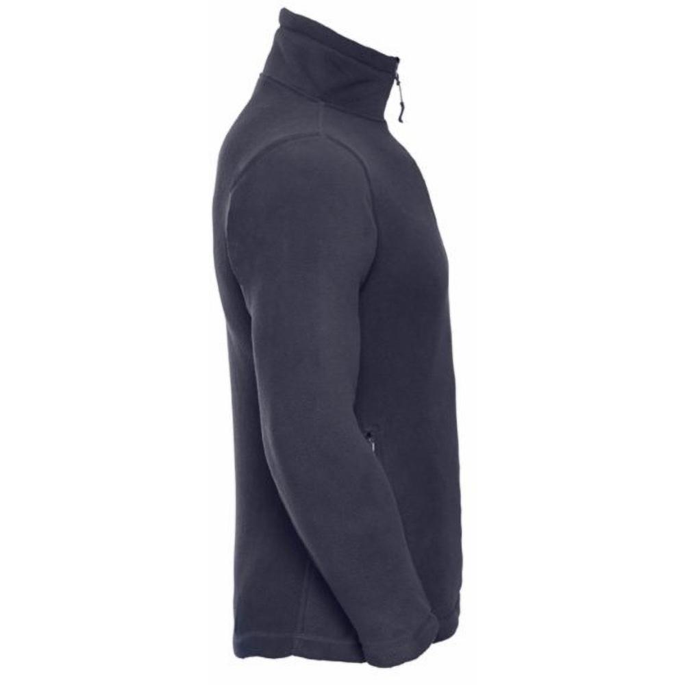 Russell-Maglione-in-Pile-con-Mini-Zip-Abbigliamento-Casual-Uomo
