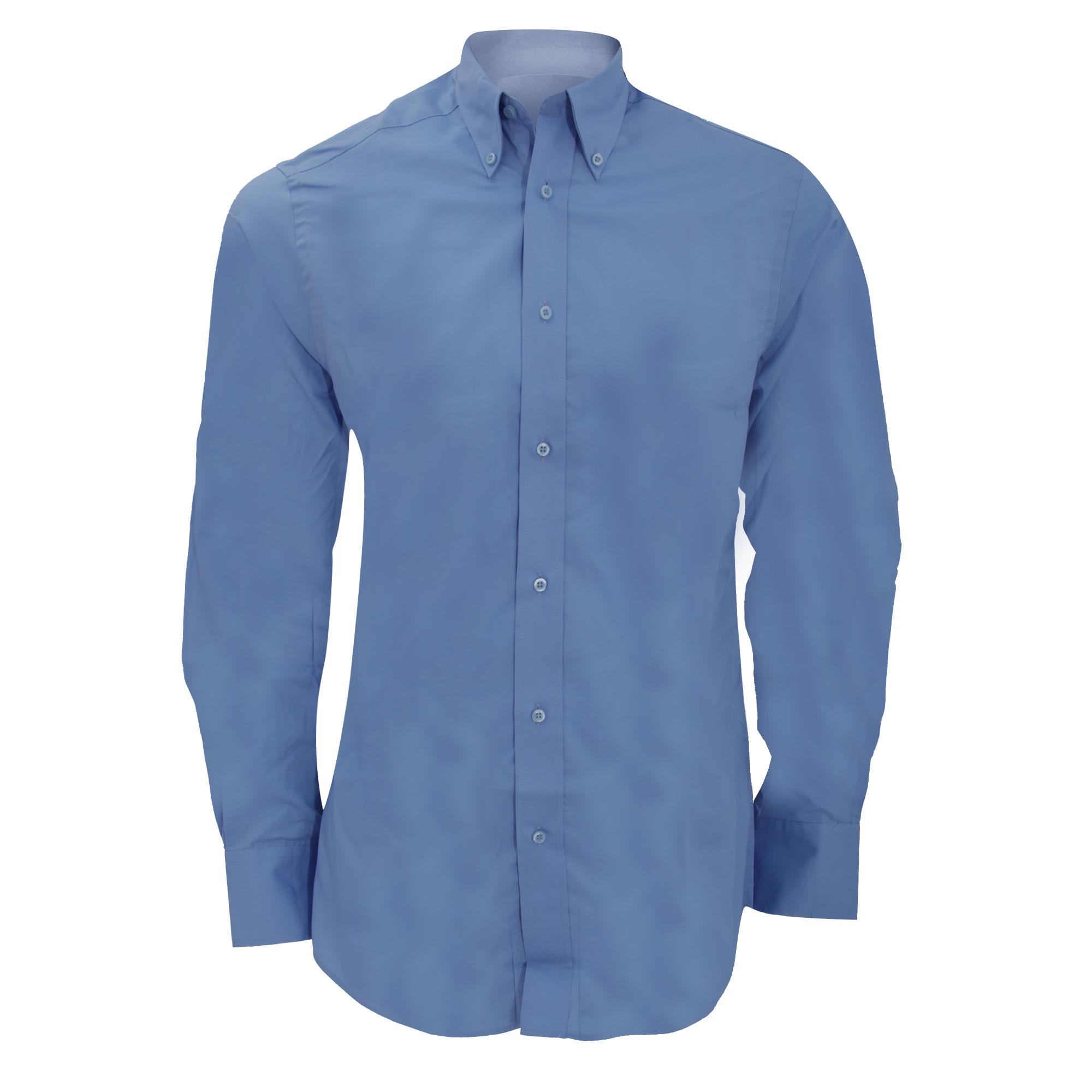 Kustom kit mens city long sleeve business shirt ebay for Business shirts for men